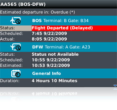 Real-time Flight Status